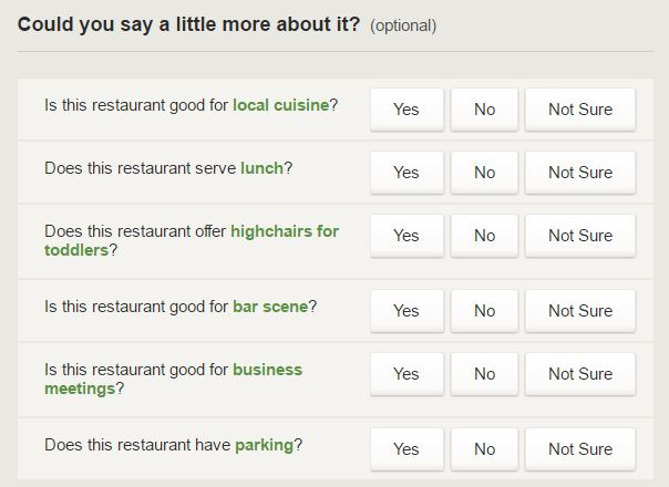 Fake Restaurant reviews