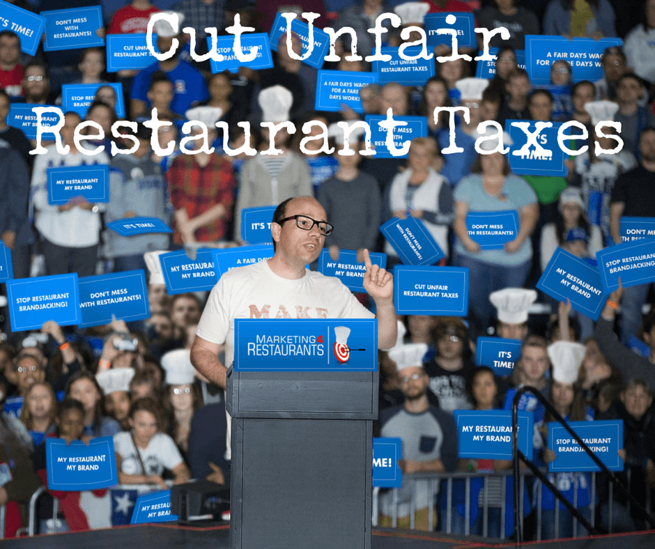 2016 Election Campaign to Cut Unfair Restaurant Taxes