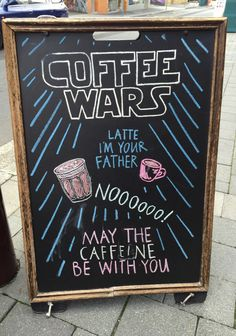 Restaurant Chalkboard - Coffee Wars