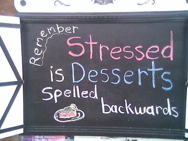 Restaurant Chalkboard -stressed