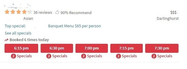 opentable deal