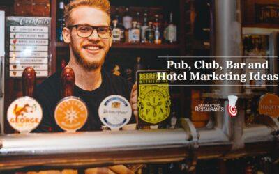 112 – Pub, Club, Bar and Hotel Marketing ideas
