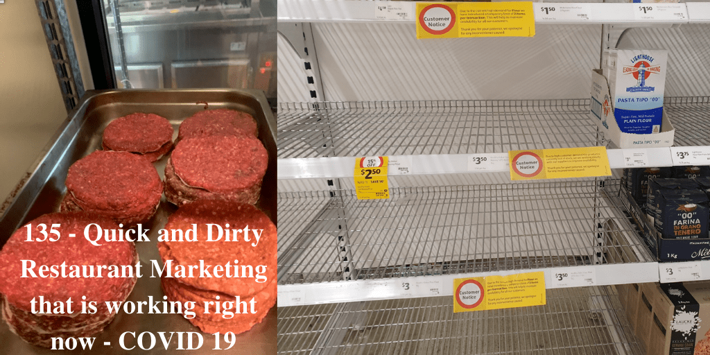 135 - Quick and Dirty Restaurant Marketing that is working right now - COVID 19